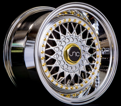 JNC 004S - Platinum w/ Gold Rivets