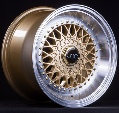 JNC 004S - Gold w/ Machined Lip & Gold Rivets