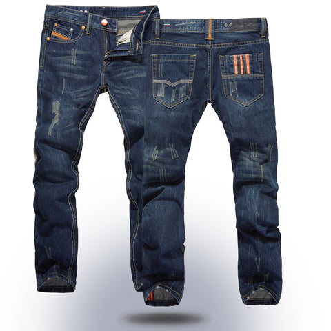 Men new denim jeans classic fit