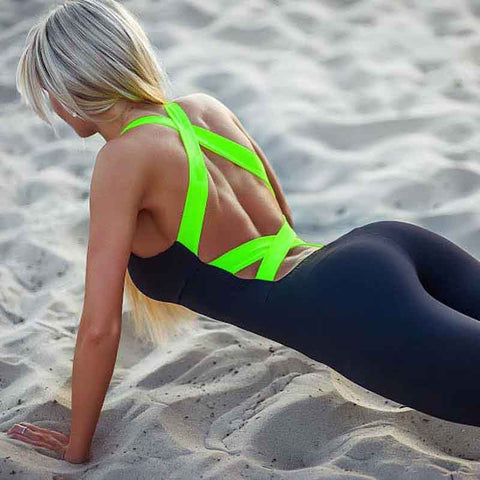 Sexy Backless Bandage Sportswear