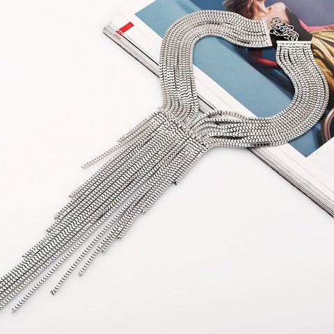 fashion bohemian big Woven long tassels