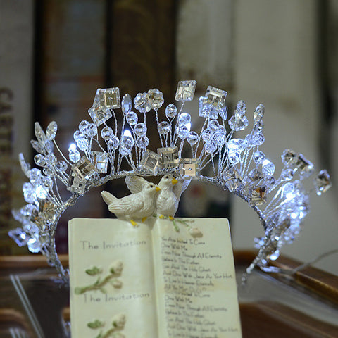 Beautiful Blue White Light Tiara