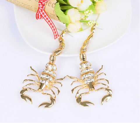 Scorpion Drop Earrings