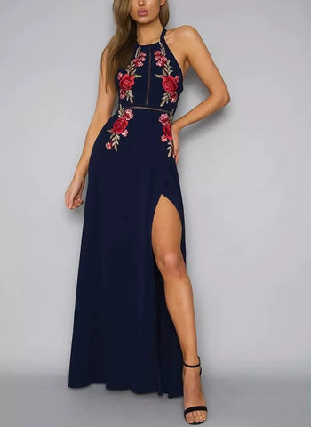 Summer Maxi Embroidery Dress