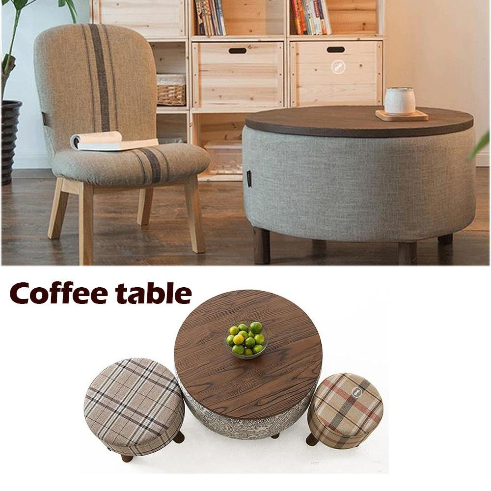 $493.35- 100% Wood Coffice TablePure cotton clothrustic Wood furnitureTea tablecoffee table with storageFashion live room furniture