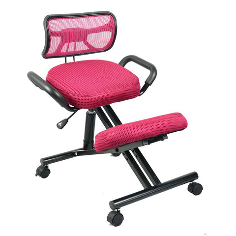 $249.23- Ergonomically Designed Knee Chair W/ Back Handle Mesh Fabric Caster Office Kneeling Chair Ergonomic Posture Chair Office