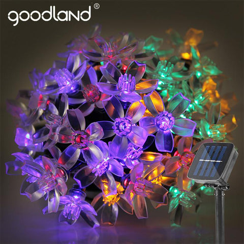 $19.76- Goodland 5M Solar Sun Led String Lights Waterproof Led Light Outdoor Garden Lighting For Christmas Festival Party Decoration