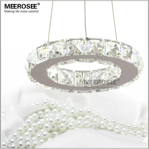 LED Crystal Chandelier Light for Aisle Porch Hallway Stairs Crystal Ring dining light wth LED Light Bulb 8 Watt 100%