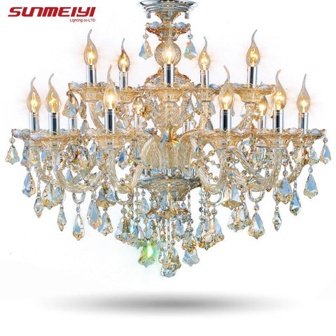 Modern Crystal Chandelier Living Room Lustres De Cristal Decoration Tiffany Pendants Chandeliers Home Lighting Indoor Lamp