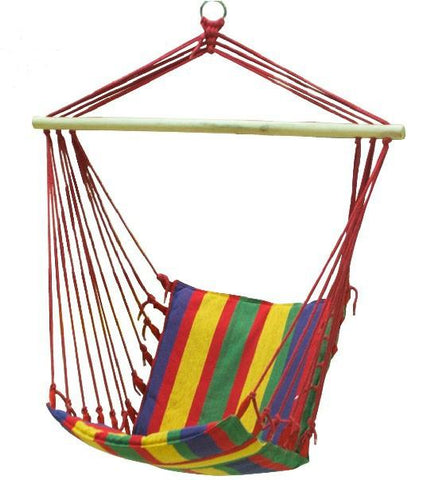 Adult Colorful Casual Hanging Chairs Outdoor Children Canvas Striped Rocking Chair Top Grade Indoor Patio Swing