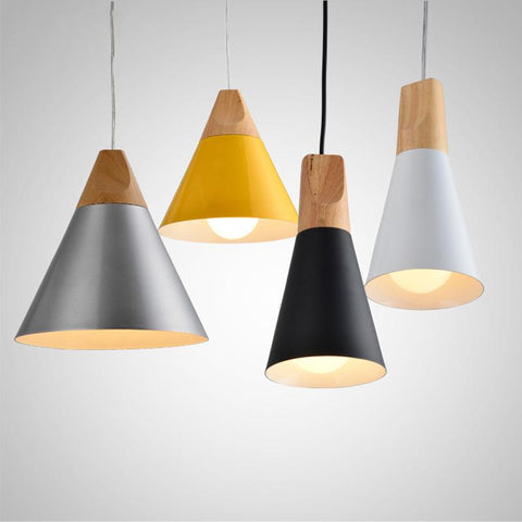 Creative Modern Nordic Pendant Lights Original Wood Light Living Room Restaurant Wooden Art Minimalist Hanging Light Modern Lamp