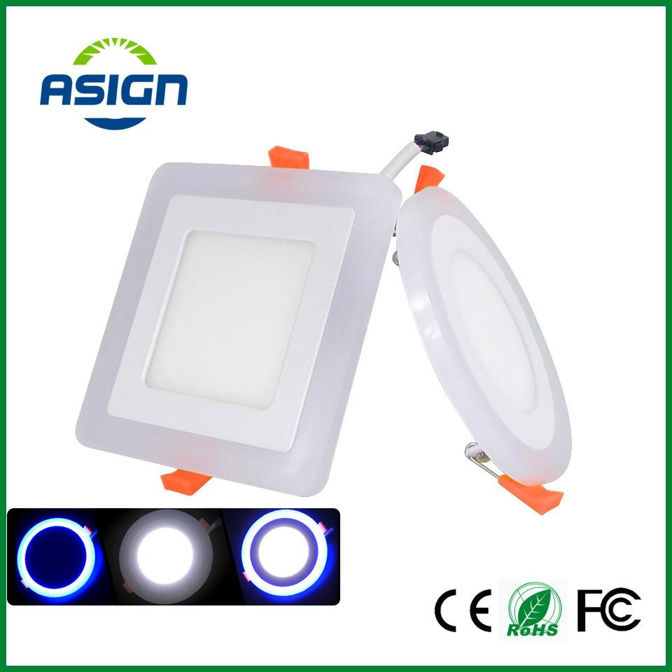 Led Panel Downlight 6W 9W 16W Round Square 3 Three Model Ceiling Recessed Light Ac85 265V Painel Lamp Ce Rohs Ul