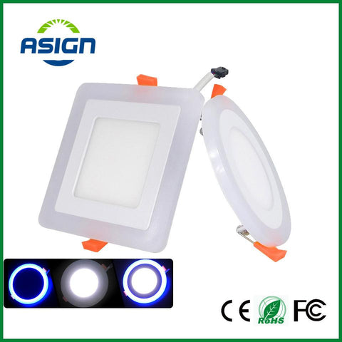 $14.42- Led Panel Downlight 6W 9W 16W Round/Square 3 Three Model Led Ceiling Recessed Panel Light Ac85265V Painel Lamp Ce Rohs Ul