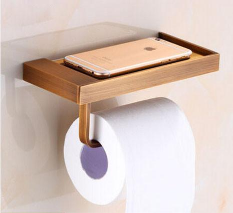 $23.04- MultiChoices Luxury Toilet Paper Holder Wall Mount Bathroom Kitchen Roll Paper Tissure Rack