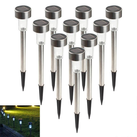 10Pcs/Lot Solar Panel Led Spike Spot Light Spotlight Landscape Garden Yard Path Lawn Solar Lamps Outdoor Grounding Sun Light
