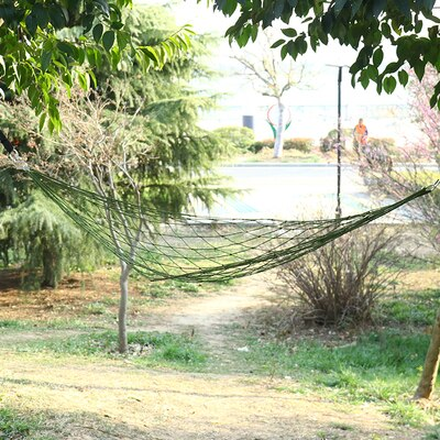 Camping Hammock Nylon Net Hammock Portable Ultralight Camping Mesh Hammock Swings Patio Swings Outdoor Furniture Supplies