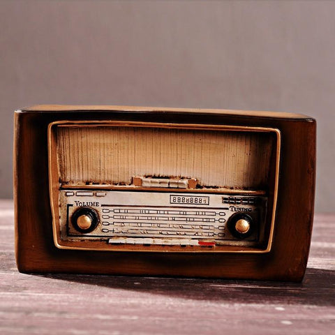 $35.96- Loft Style Resin Radio Model Antique Imitation Nostalgia Wireless Ornaments Craft Bar Home Decor