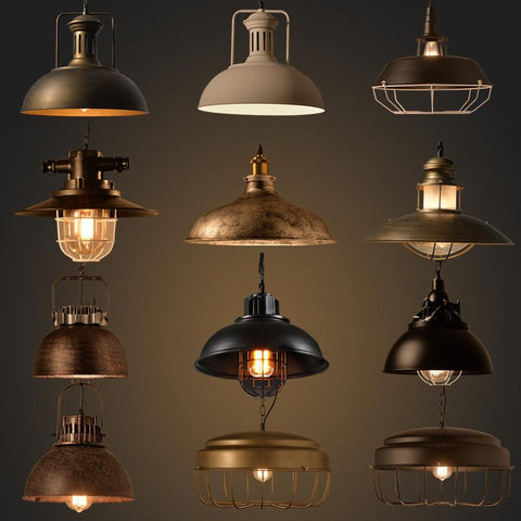 $48.55- Vintage Industrial Lighting Copper Lamp Holder Metal Pendant Light American Aisle Lights Lamp Edison Bulb 110V260V