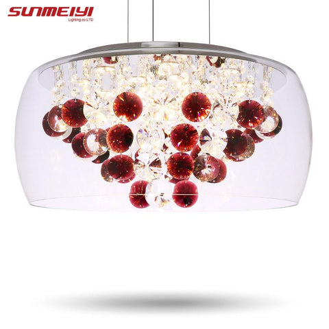 $203.88- Modern Crystal Led Pendant Lights Fixture For Indoor Lamp Lamparas De Techo Surface Mounting Ceiling Lamp For Bedroom