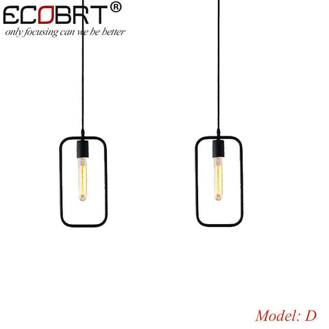 $35.08- Ecobrt Retro Vintage Art Deco Pendant Light Lamp Loft Creative Style At Living Room Black Metal Cord Pendant Lighting Fixtures