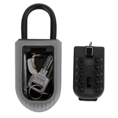 $49.12- Keys Safe Box Digit Wall Mount Combination Lock W/ Four Password Key Storage Box Zinc Alloy Material Security Organizer Boxes