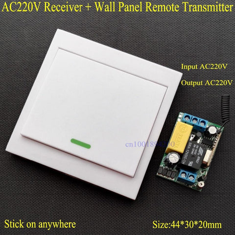 $17.23- Wireless Remote Control Switch Ac 220V Receiver Wall Panel Remote Transmitter Hall Bedroom Ceiling Lights Wall Lamps Wireless Tx