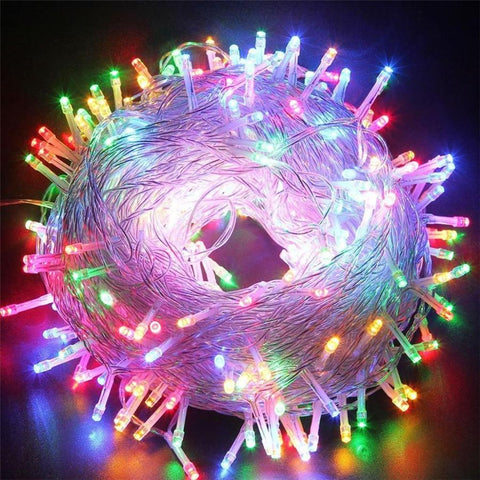 MultiColor 13.1Ft Meteor Shower Rain Tubes 8 Led Christmas Lights Wedding Party Garden Xmas String Light Outdoor Indoor Decor
