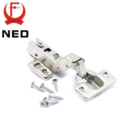 $4.33- Ned C Series Hinge Stainless Steel Door Hydraulic Hinges Damper Buffer Soft Close For Cabinet Cupboard Furniture Hardware