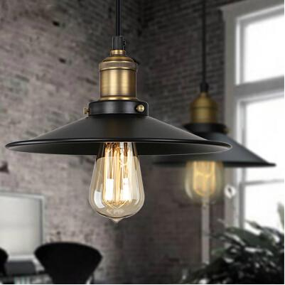 Rh Loft Vintage Copper Base Edison Led Bulb Iron Shade Ceiling Hanging Industrial Pendant Lamp Lighting E27/E26 110V/220V