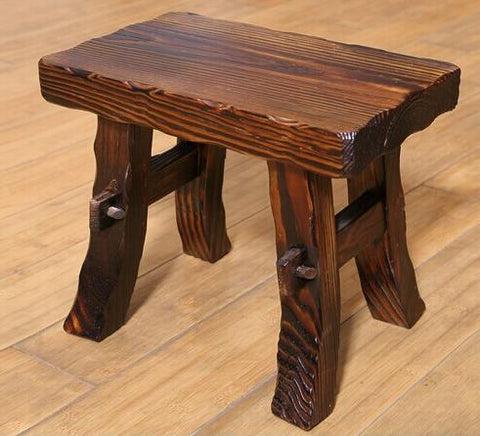 100% Wooden Stoolwood Furnituregarden Style Stoolbathroom Stool Children'S Furniturewood Chairwaiting For The Stoold