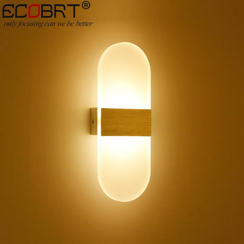 $46.78- Ecobrt Modern 6W Aluminum Led Indoor Wall Lamps Surface Mounting Decoration Sconces Wall Lighting Fixtures Silver / Black / Gold