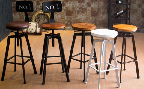 $169.98- Vintage Retro Industrial Look Rustic Swivel Kitchen Bar Stool Cafe Chair For Home Kitchen Restaurant Coffee Shop Dinning