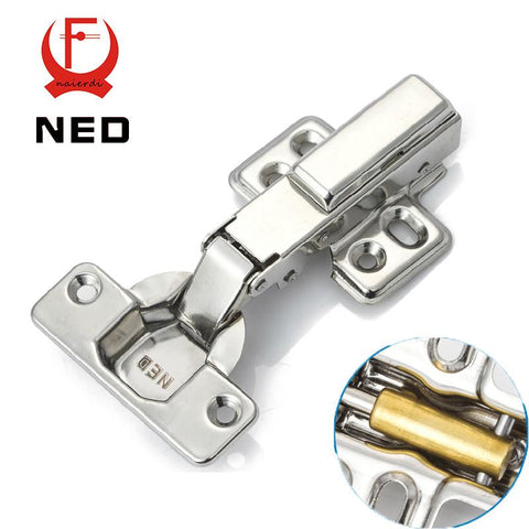 $5.68- Ned Full Size 304 Stainless Steel Hydraulic Hinge Pure Copper Damper Buffer Cabinet Cupboard Door Hinges Furniture Hardware