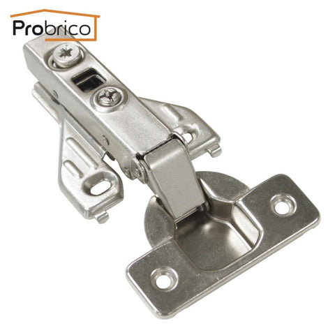 $41.38- Probrico 4 Pair Soft Close Kitchen Face Frame Cabinet Hinge Iron Chrh04Ha Furniture Full Overlay Concealed Cupboard Door Hinge