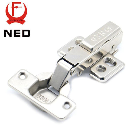 $4.37- Ned Hinge Rustless Iron Hydraulic Hinge Iron Core Damper Buffer Cabinet Cupboard Door Hinges Soft Close Furniture Hardware