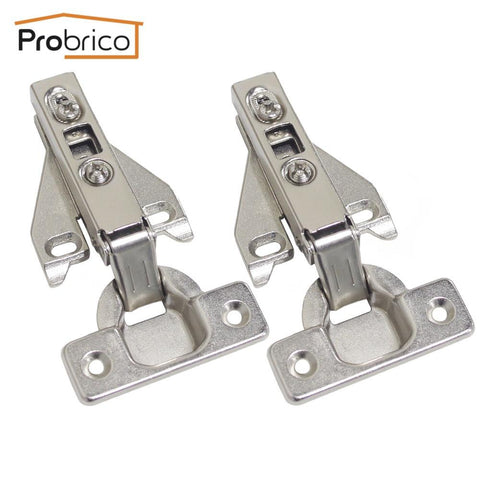 $35.98- Probrico 4 Pair Face Frame Kitchen Cabinet Hinges Iron Chhs09Ga Furniture Full Overlay Concealed Cupboard Door Hinge
