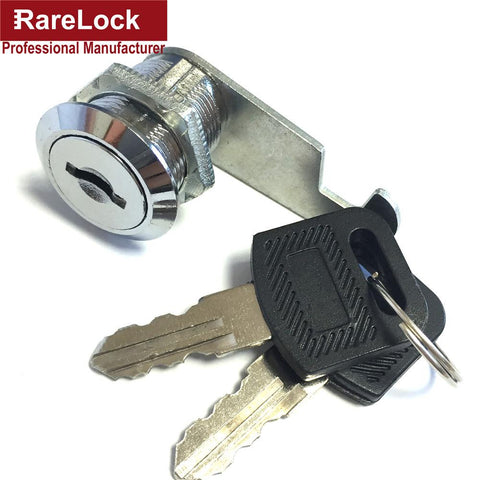$3.06- Rarelock 4 Size Security Drawer Cam Lock Cylinder Door Mailbox Cabinet Tool Box Lock 2 Keys Hardware Locks