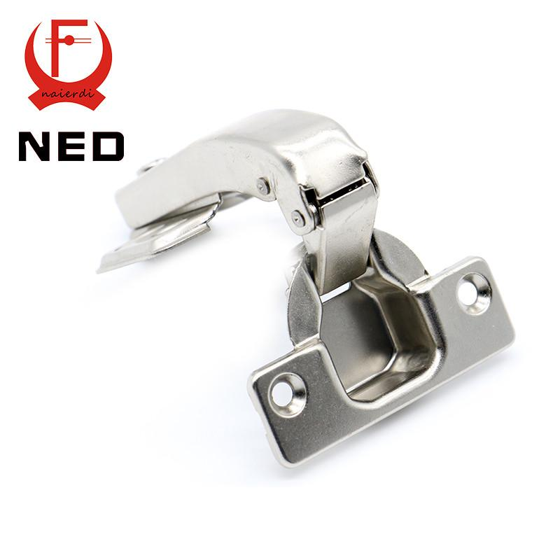 $4.09- Brand Ned 90 Degree Corner Fold Cabinet Door Hinges 90 Angle Hinge Hardware For Home Kitchen Bathroom Cupboard W/ Screws