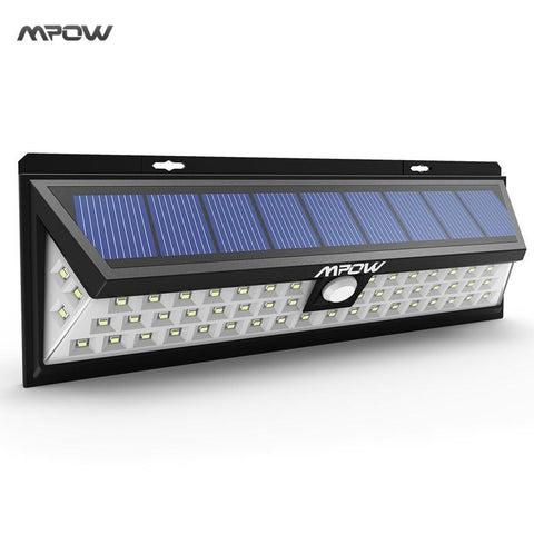 Mpow 54 Led Solar Lights Waterproof Solar Lights With 120 Degree Wide Angle Motion Solar Light With 3 Modes For Garden Path