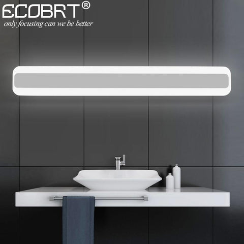 ECOBRT 14W 16W LED Bathroom Lights Modern Square Indoor Acrylic LED Mirror Lamps 40cm / 50cm long AC 10-240V AC