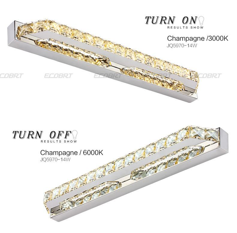 $100.88- Ecobrt Good Quality 10W Crystal Wall Lamps 40Cm Long Led Bathroom Mirror Bar Lights Fixture Indoor 110V / 220V Ac