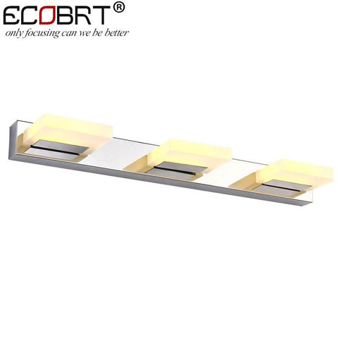 ECOBRT Modern 9W 55cm long led wall lights Bathroom AC85-265V  Acrylic wall lamps decor lighting Waterproof driver CE ROHS