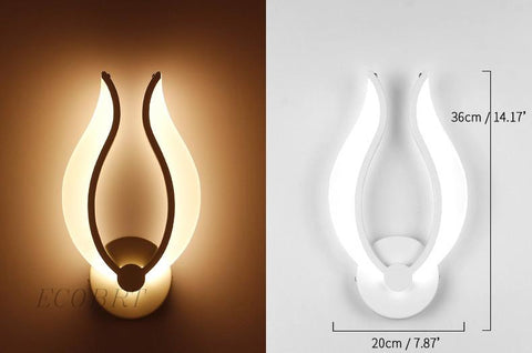 $80.59- Ecobrt Brief Led Wall Light 9W Modern Sconces Lights In Bedroom As Bedside Lamp Bedside Lamps