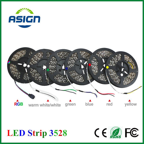 $4.92- Led Strip 3528 Rgb Flexible Upgrade More Brighter Than Old 3528 Led Strip Light 300 Led/5M String Lighting Decoration Lamp Tape