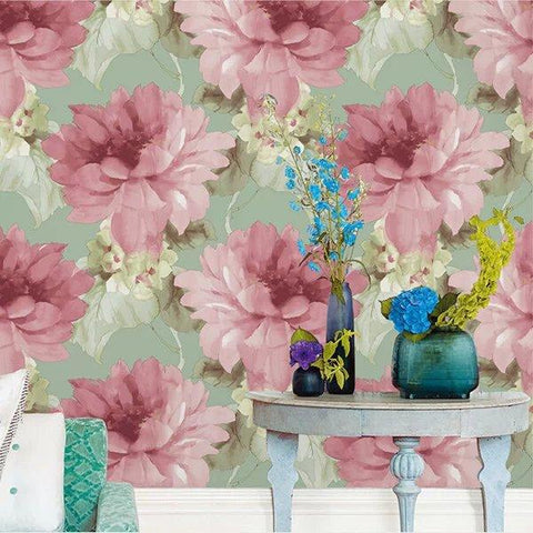 Buy European Style Nonwoven Fabric Wallpaper Wall Covering Roll Home ...