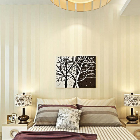 $34.74- Modern Minimalist Wall Paper Wallcovering Stripe Glitter NonWoven Background Wallpaper For Livingroom Papel De Parede Home Deco