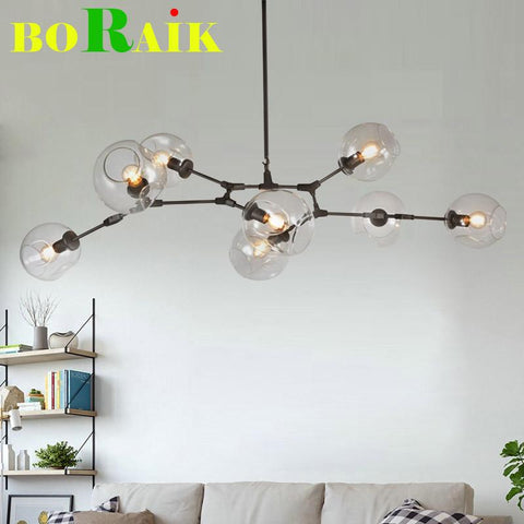 Retro Loft Dining Room Creative White/Black Simple Pendant Lights Home Living Room Iron Minimalist Retro Loft Pendant Lamps