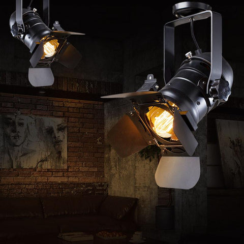 $95.73- Loft Rh American Rural Industrial Retro Personality Lighting Ceiling Lamps Absorb Dome Light Include E27 Led Bulbs Large Version