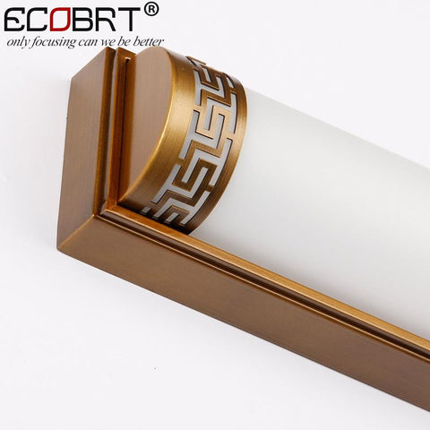 $110.16- Ecobrt Arrival Traditional Led Bathroom Lights 20W 24W Chinese Style Wall Lights Fixtures Antique Brass Finishing