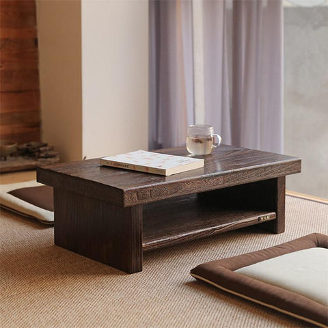 $296.26- Asian Antique Furniture Japanese Floor Tea Table Rectangle Size 80*40Cm Living Room Wooden Laptop Coffee Tatami Low Table Wood